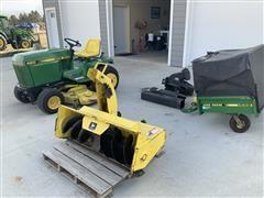 1986 John Deere 420 Garden Tractor & Attachments