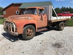 1956 Ford F500 Flatbed Dump Truck