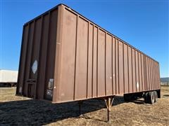 1973 Theurer T/A Dry Van Storage Trailer