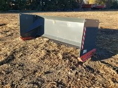2019 TMG 7' Wide Snow Pusher Skid Steer Attachment