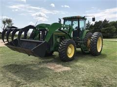 1995 John Deere 8400 MFWD Tractor W/Loader