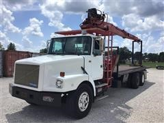1995 White/GMC WG64T T/A Flatbed Truck W/IMT 13034 Knuckleboom Loader