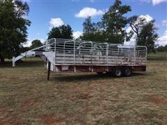 Neckover 24' T/A Gooseneck Livestock Trailer