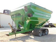 J & M Mfg 1075 Tracked Grain Cart