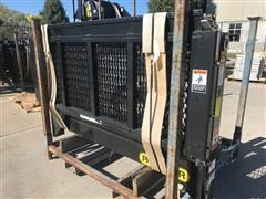 2015 Palfinger E48-72 Cable Gate Grated Steel Platform Liftgate