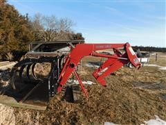Great Bend GB760 Front End Loader W/4 Tine Grapple