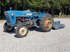 1967 Ford 2000 2WD Tractor W/Rotary Mower