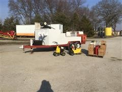 2001 Fleming / Borderline T/A Curbing Trailer & Tools