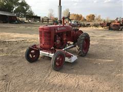 Farmall A 2WD Tractor W/Mower