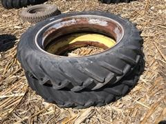 Goodyear 12.4x38 Tractor Tires On Rims