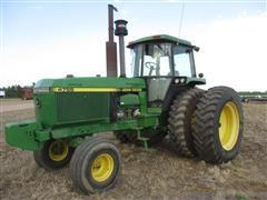 1990 John Deere 4755 2 WD Tractor W/Axle Mount Duals