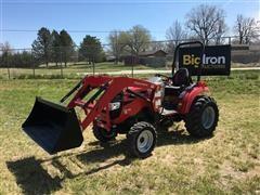 2018 Mahindra 15334FHIL MFWA Compact Utility Tractor W/Loader & Bucket