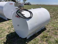 Steel Horizontal 550-Gal Fuel Tank