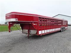 2011 Delta 8' X 38' Tri/A Gooseneck Livestock Trailer