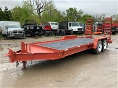 2013 DitchWitch S2B T/A 16' Flatbed Trailer
