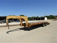 Shop Built T/A Gooseneck Flatbed Trailer