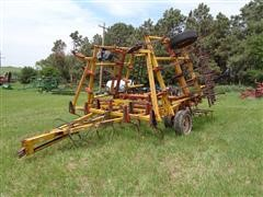 Kent 22' Field Cultivator W/3 Bar Harrow