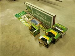 John Deere Signs & Die-Cast Toy Tractors