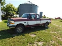1993 Ford F250 XLT 4X4 Extended Cab Pickup Truck