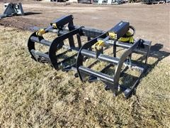 "2019 Mid States 65"" Skid Steer Brush Grapple"