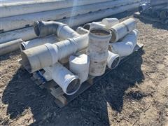 Assorted PVC Irrigation Pipe Fittings