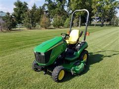 "2012 John Deere 1026R MFWD Tractor w/ 60"" Drive Over Deck"