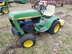 """John Deere 210 Utility Tractor W/Rear 40"""" Wide Tiller"""