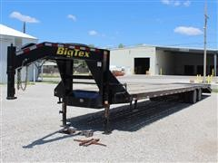 2014 Big Tex 22GN-35-5 35' + 5' Dove Tail T/A Gooseneck Flatbed Trailer