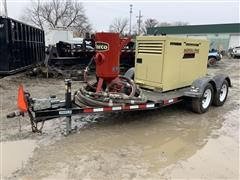 2015 Ingersoll Rand P185 Air Compressor W/Marco Sandblasting System Mounted On T/A Trailer