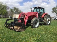 2001 Massey Ferguson 8270 MFWD Tractor W/Loader & Grapple