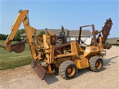 Case 660 4x4x4 Trencher W/Backhoe & Backfill Dozer