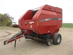 2007 Case IH RBX563 Round Baler W/Twine Tie And Net Wrap