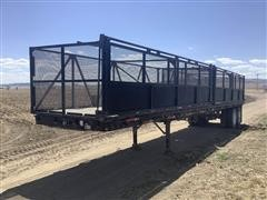 1975 Trombley FB1000-40 T/A Flatbed Trailer W/Beet Baskets