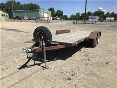 1986 Homemade T/A Flatbed Trailer