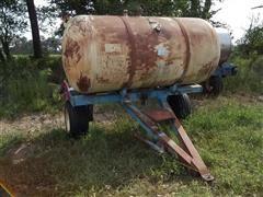 Farmland Propane Fuel Tank On 2 Wheel Cart