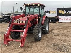 2014 Mahindra 85604CAFLSKT4 MFWD Tractor W/Loader
