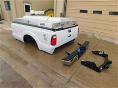 Ford 350 Pickup Box With Aluminum Tool Box