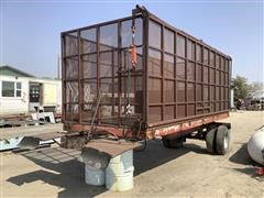 Shop Built High Side S/A Silage Trailer
