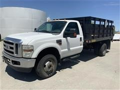 2009 Ford F350 XLT Super Duty 4x4 Flatbed Pickup W/ Tommy Lift Tailgate