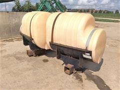 Sprayer Specialties Pair Of 250-Gallon Saddle Tanks