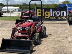 2016 Mahindra EMax25NH 4WD Compact Utility Tractor W/Loader