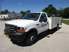2001 Ford F350XL 4x4 Service Pickup