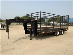 2002 Specially Constructed 20' Gooseneck T/A Utility Trailer
