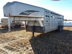 1995 Diamond D Steel T/A Livestock Trailer