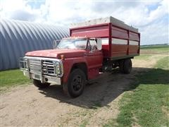 1979 Ford F600 S/A Grain Truck W/Silage Endgate