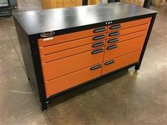 Swivel Work Bench Storage Combo