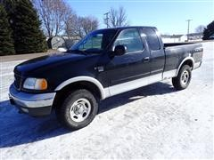 2002 Ford F150 XLT 4x4 Extended Cab Short Box Pickup