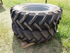 Mitas 380/85 R34 Tractor Front Duals W/ Rims