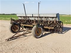 John Deere Van-Brunt Grain Drill W/Small Seeder
