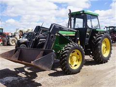 John Deere 2950 MFWD Tractor W/Loader